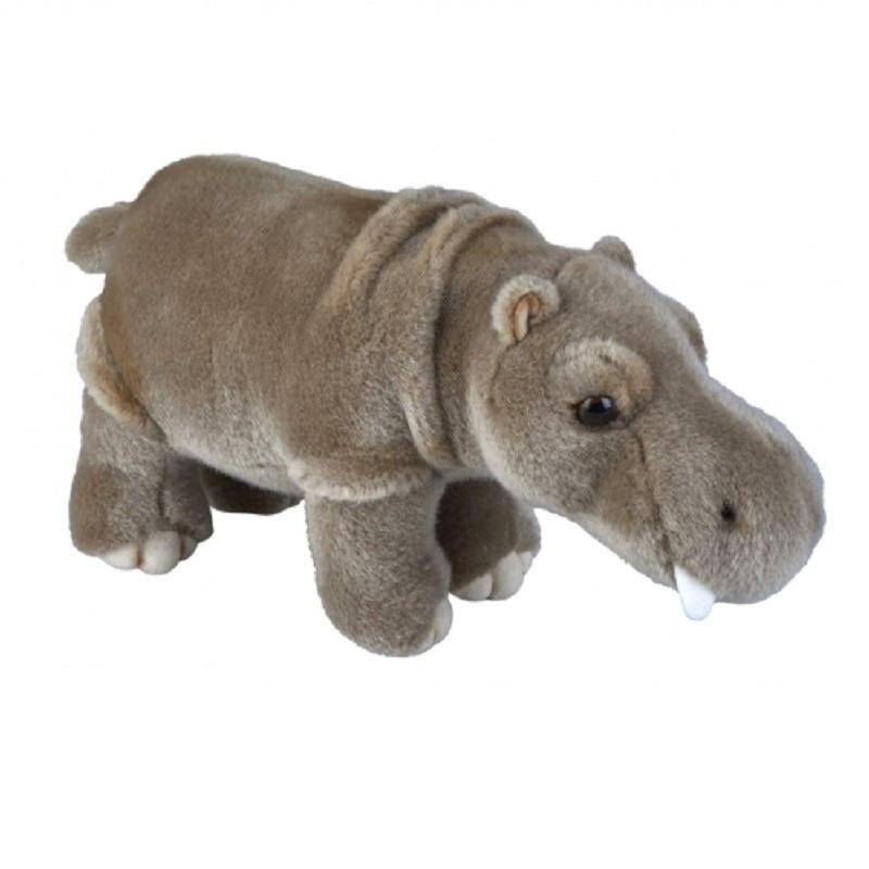 Grijze nijlpaard knuffel 28 cm knuffeldieren