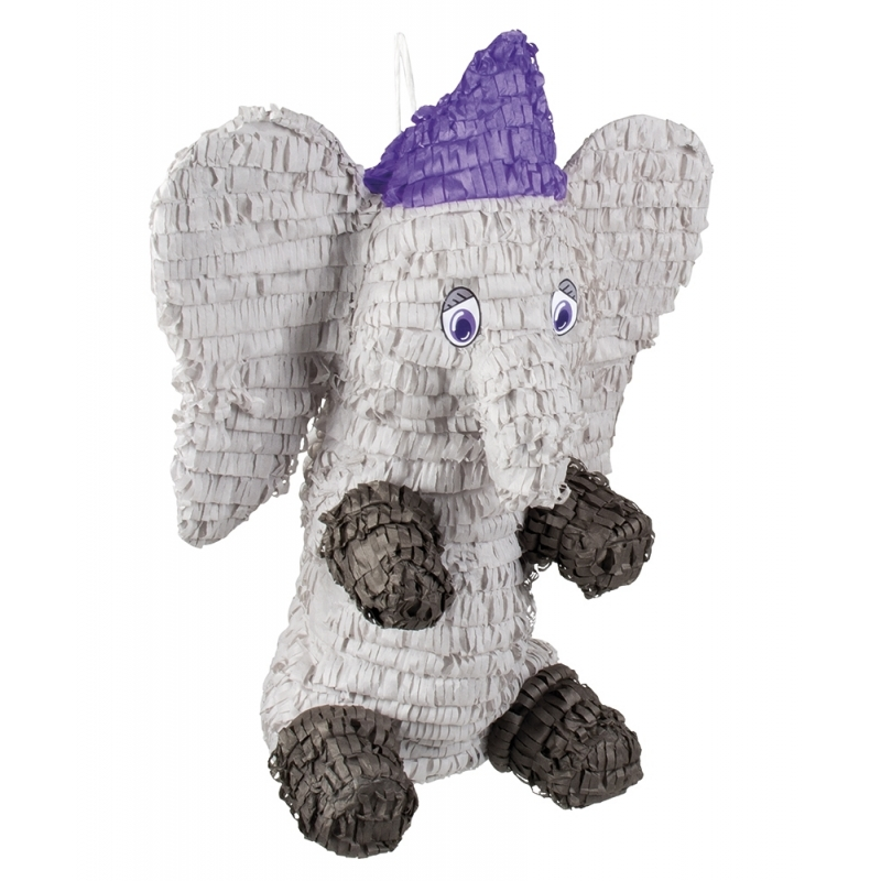 Grijze olifant pinata 52 cm
