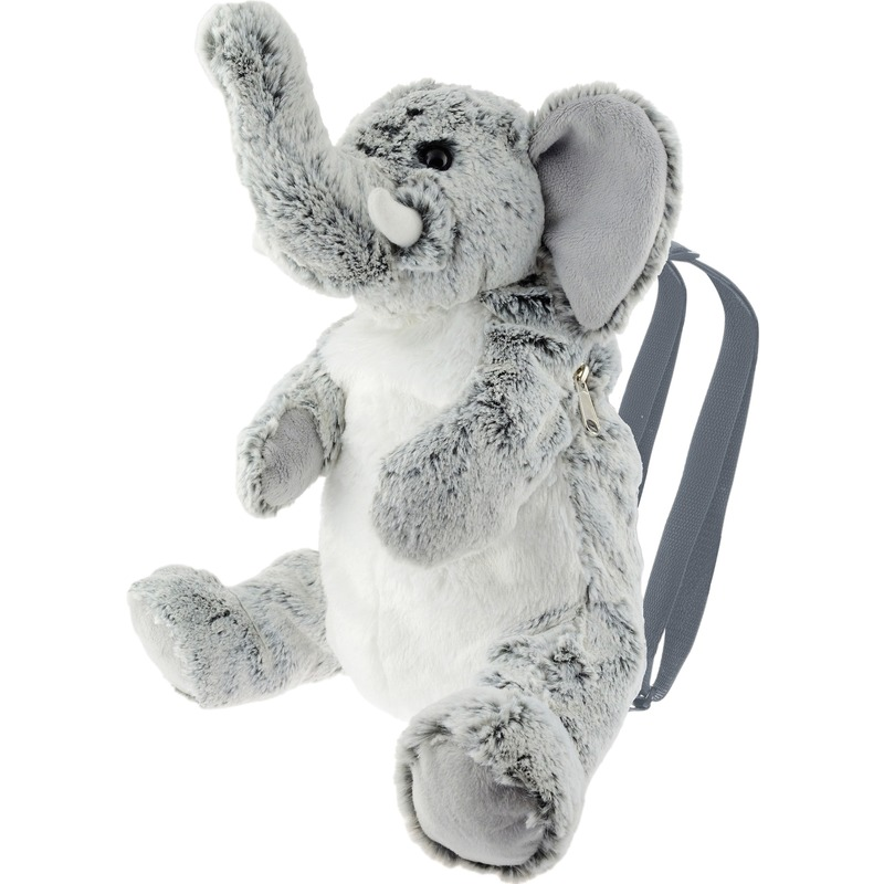 Grijze olifant rugzak/rugtas knuffels 32 cm knuffeldieren