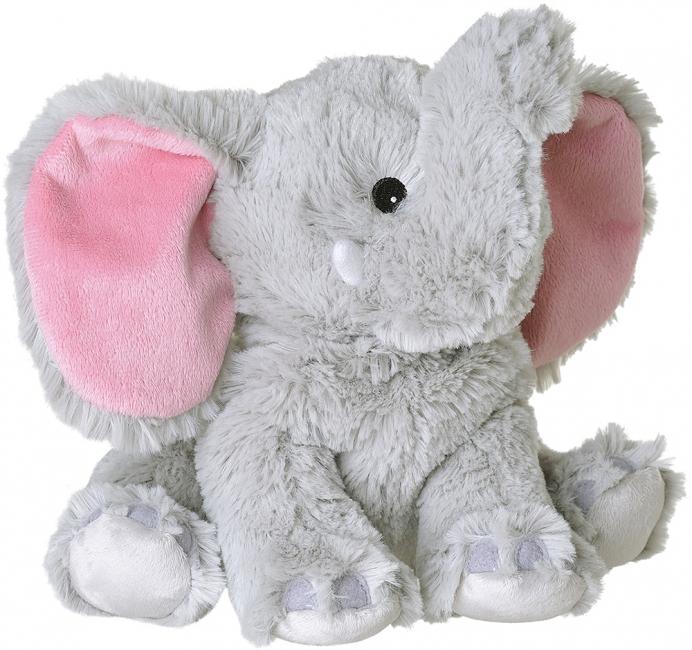 Grijze olifanten heatpack/coldpack knuffels 29 cm knuffeldieren