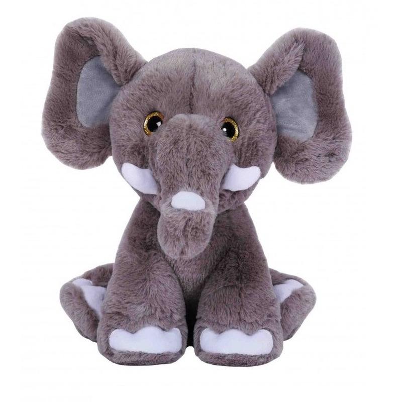 Afbeelding Grijze olifanten knuffel 30 cm knuffeldieren door Animals Giftshop