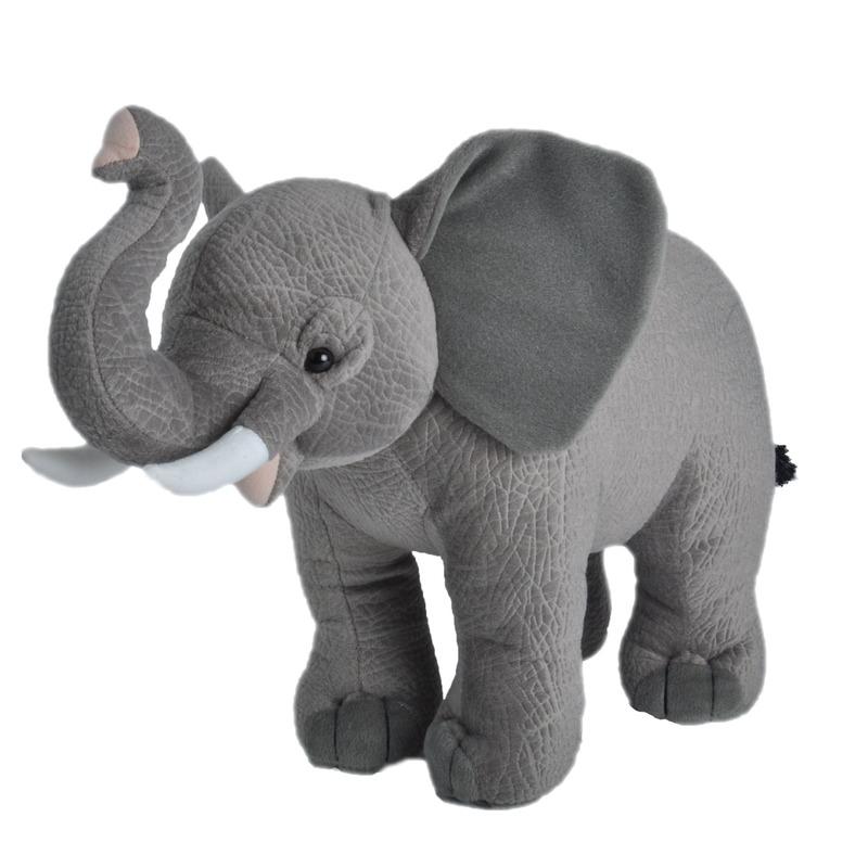 Afbeelding Grijze olifanten knuffels 35 cm knuffeldieren door Animals Giftshop