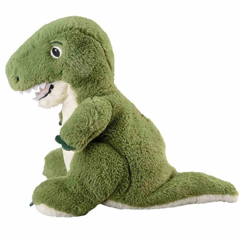 Groene dinosaurussen heatpack/coldpack knuffels 35 cm knuffeldieren
