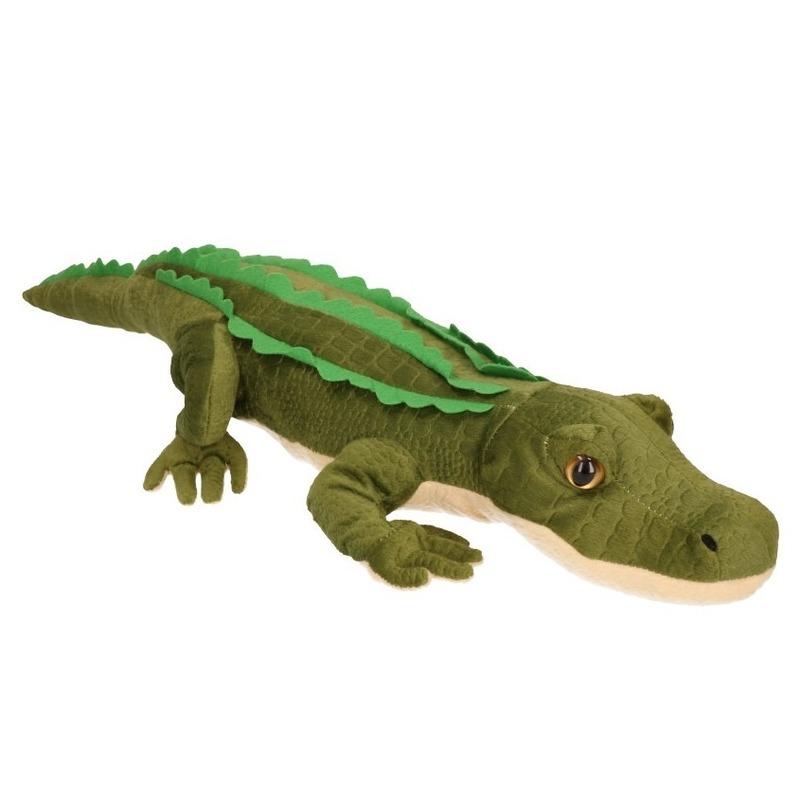 Groene grote knuffel krokodil 70 cm