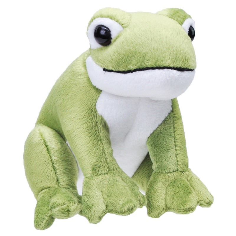 Afbeelding Groene kikkers met geluid knuffels 20 cm knuffeldieren door Animals Giftshop