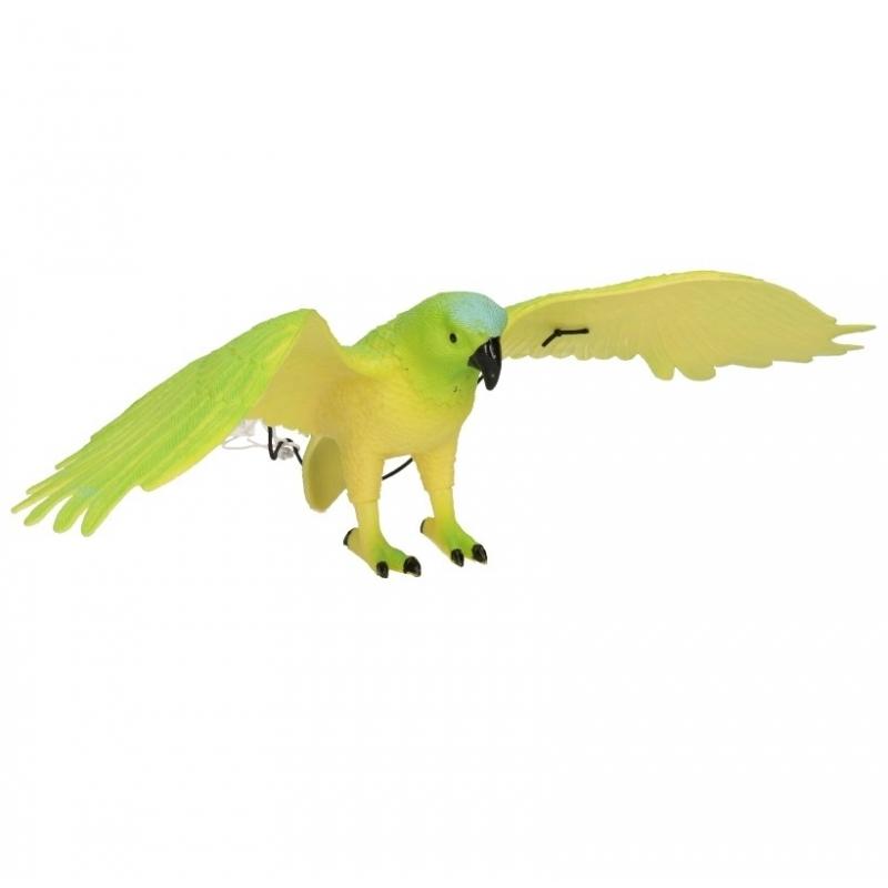 Groene papegaai van plastic 33 cm