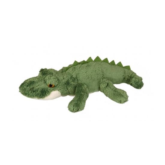 Groene pluche krokodil 15 cm