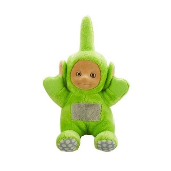 Groene Teletubbie pratende pop Dipsy 20 cm