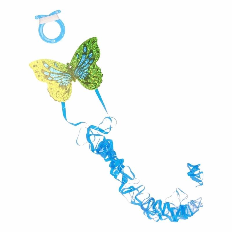 Groene vlinder mini vlieger van 10 x 7 cm