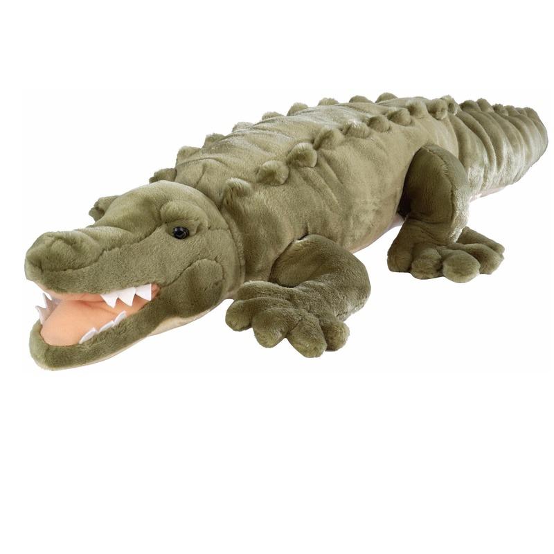 Groene zoetwater krokodil knuffel