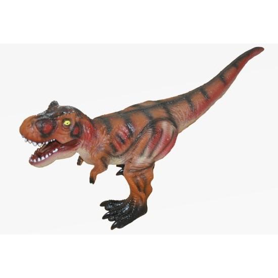 Grote bruine plastic T-Rex dinosaurus 63 cm speelgoed