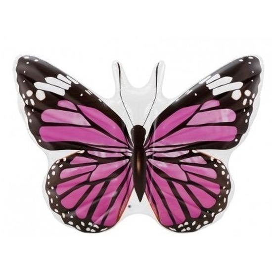 Grote opblaas vlinder 191 cm roze