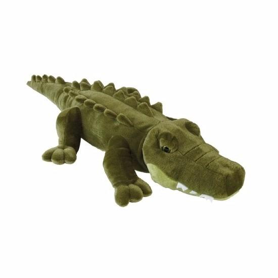 Grote pluche liggende alligator knuffeldier 80 cm