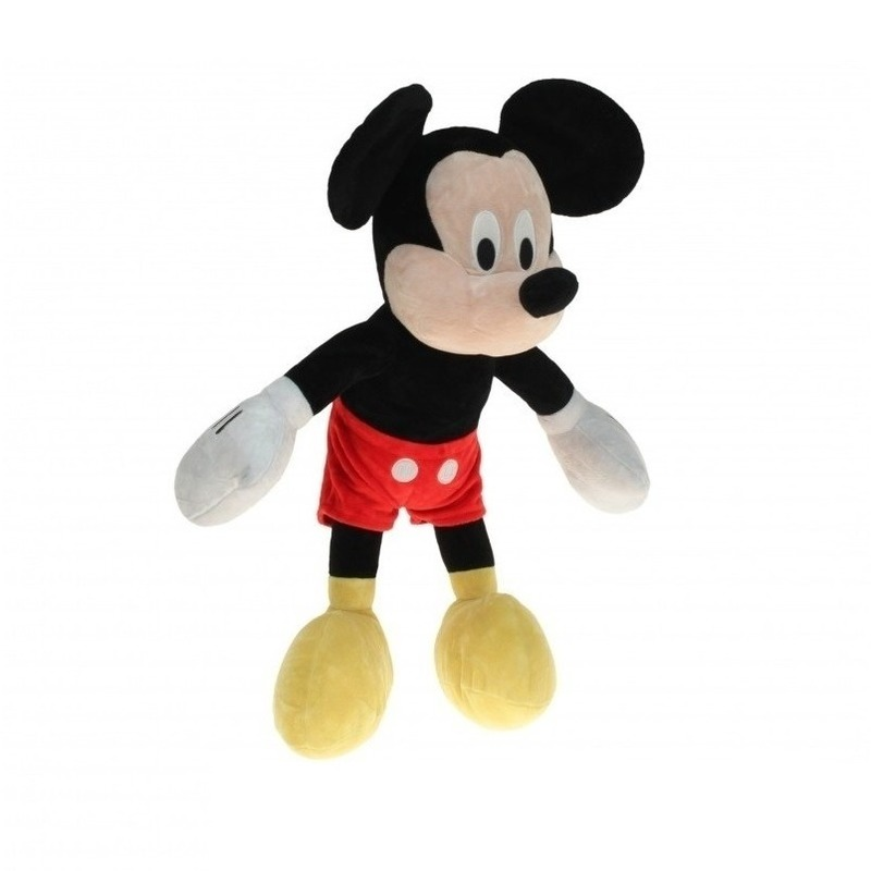 Grote pluche Mickey Mouse knuffel 80 cm