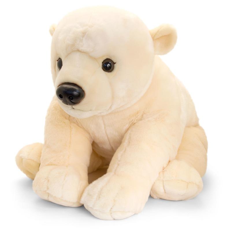 Grote zittende ijsbeer knuffel 110 cm