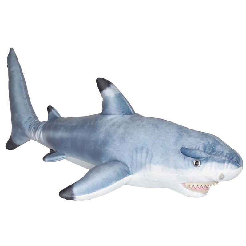 Grote zwartpunt haai knuffel 73 cm knuffeldieren