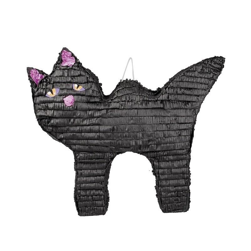 Halloween thema pinata zwart katje/poesje 58 cm speelgoed