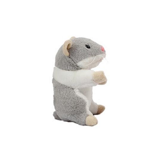 Hamster knuffel van 13 cm grijs