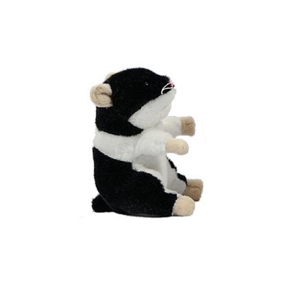 Hamster knuffel van 13 cm zwart