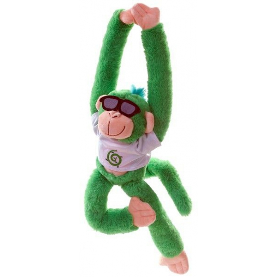 Hangend groen knuffel aapje 40 cm