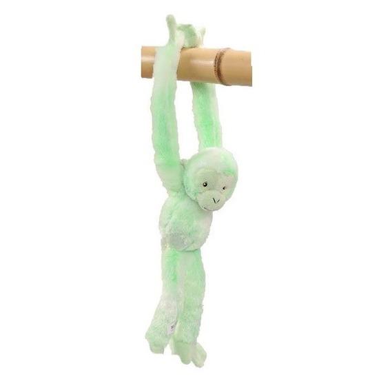 Hangend knuffel aapje groen 32 cm