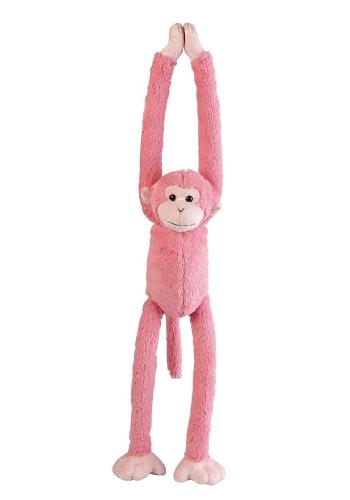 Hangend roze aapje 55 cm