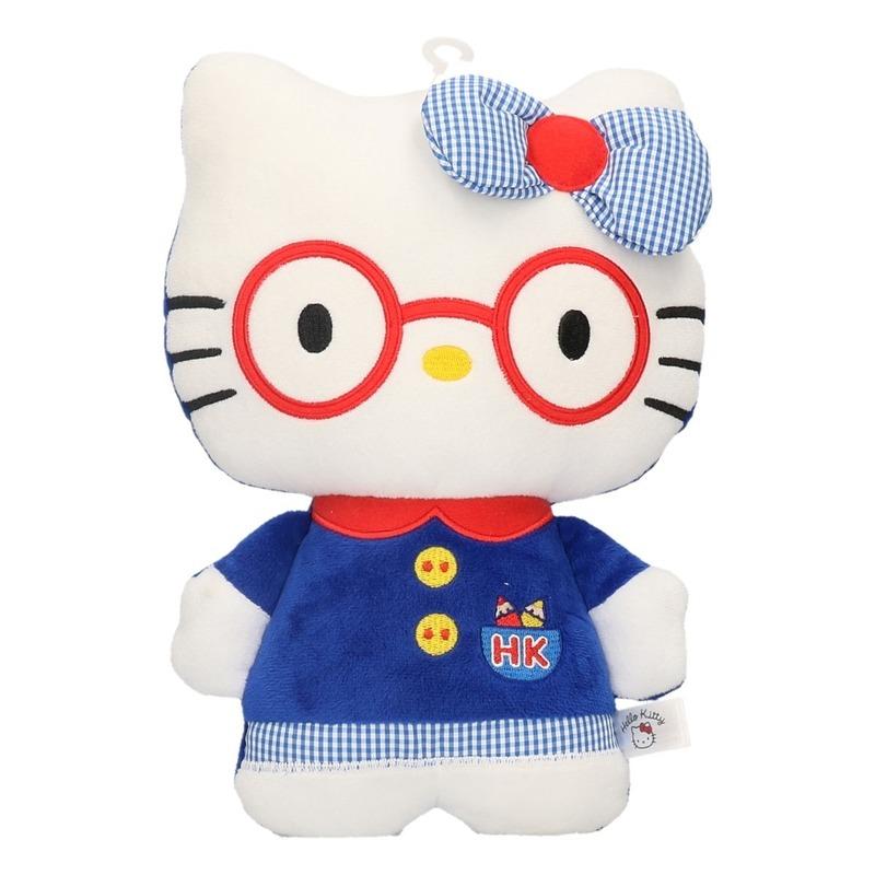 Hello Kitty in blauwe jurk 25 cm
