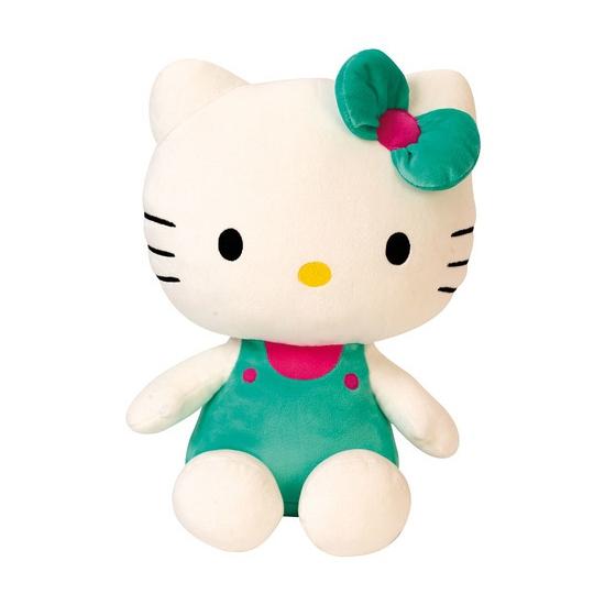 Hello Kitty met groen kleding 30 cm