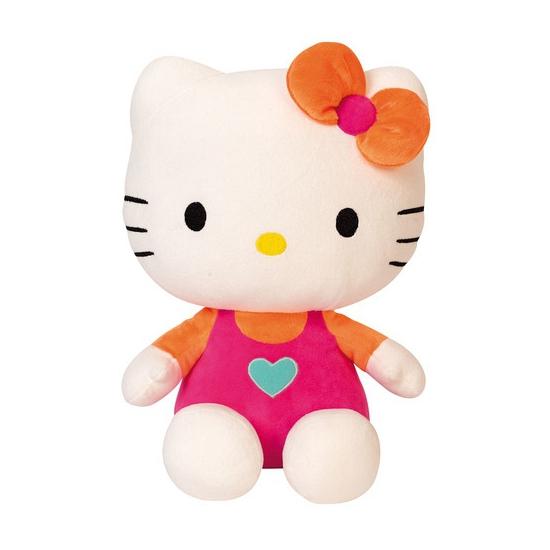 Hello Kitty met roze kleding 30 cm