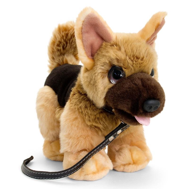 Herdershond honden knuffeldier bruin 30 cm