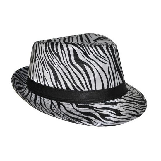 Hoedje met zebra print