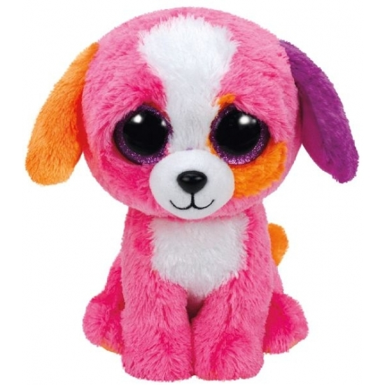 Hond/puppy knuffel Ty Beanie Precious 24 cm