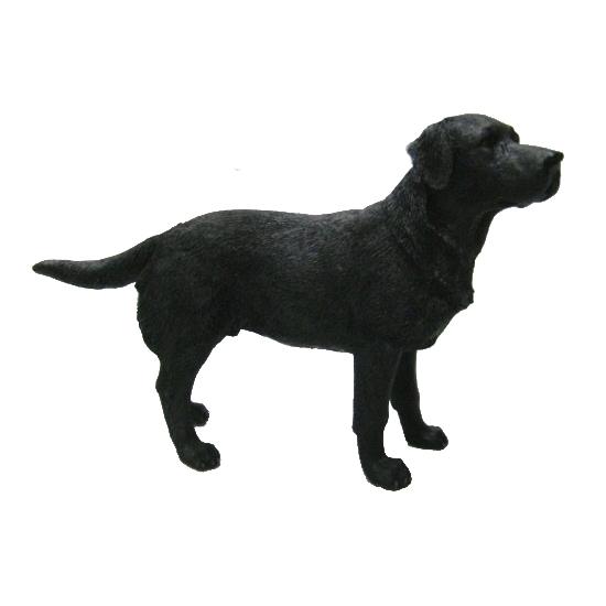 Honden beeldje Labrador zwart 14 cm