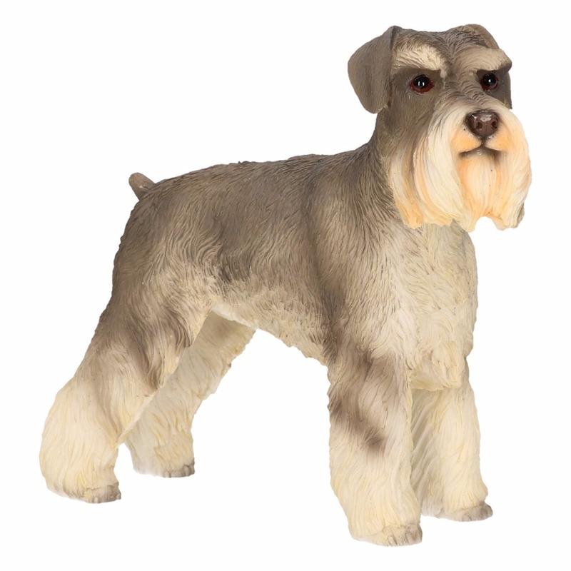 Honden beeldje Schnauzer 14 cm