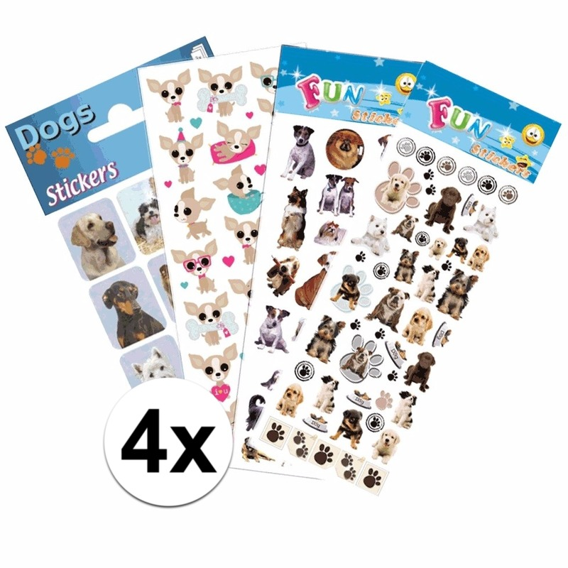 Honden thema stickers pakket