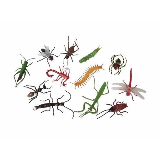 Horror insecten van plastic 12 stuks