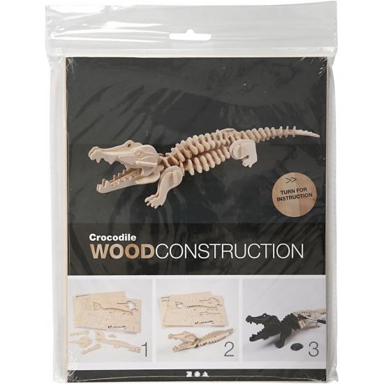 82ec014e15e Houten dieren 3d puzzel krokodil   Dieren artikelen & cadeaus