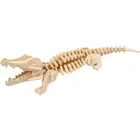 Houten dieren 3d puzzel krokodil