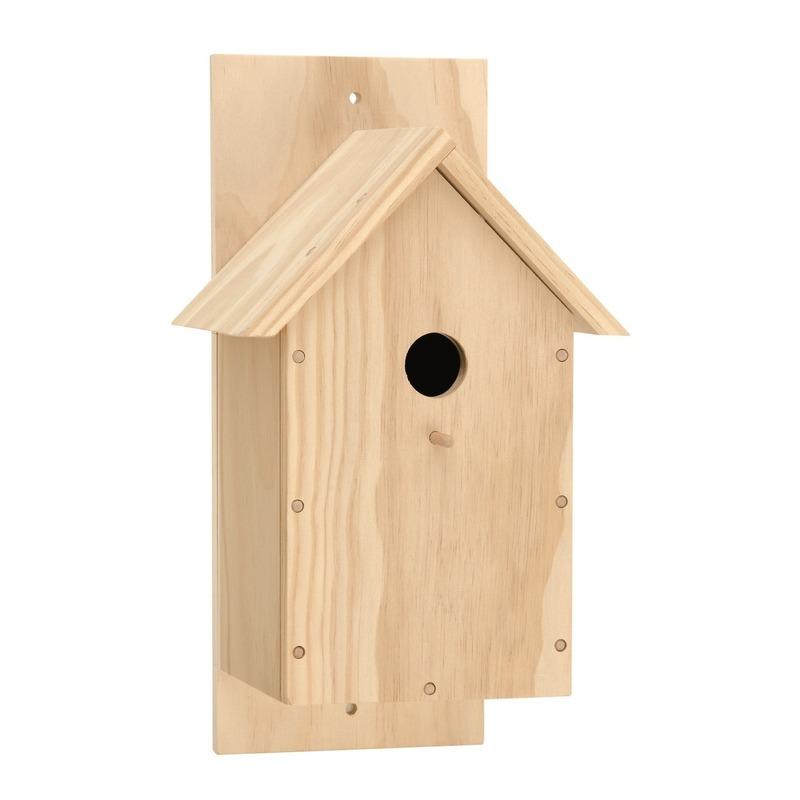 Houten vogelhuis bouwpakket