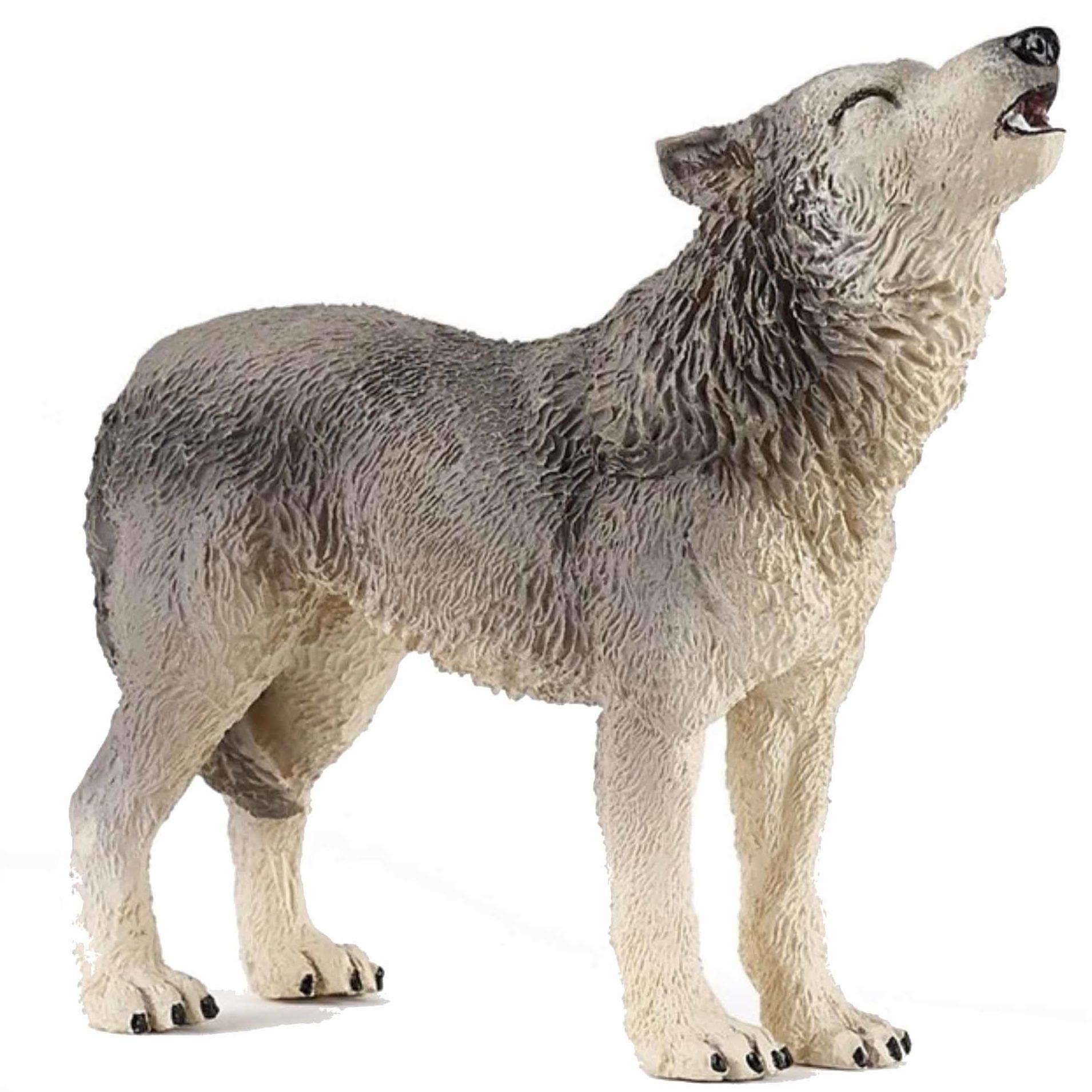 Afbeelding Huilende wolf speeldiertje 9 cm door Animals Giftshop