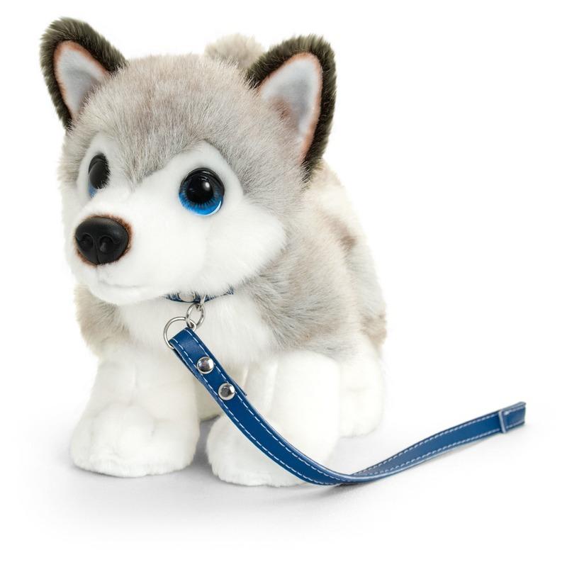 Husky honden knuffeldier grijs/wit 30 cm