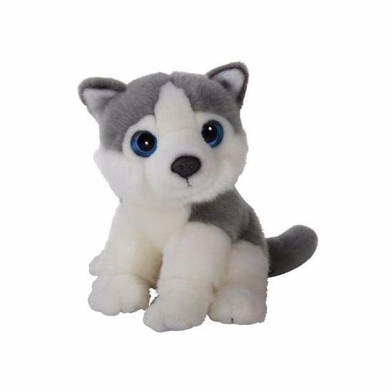 Husky van pluche 18 cm