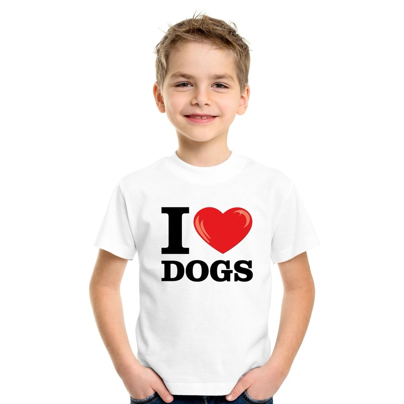 I love dogs t-shirt wit jongens en meisjes