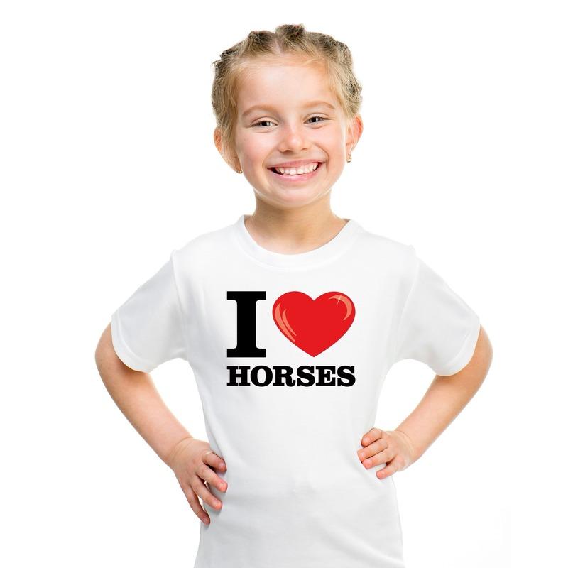 I love horses t-shirt wit jongens en meisjes