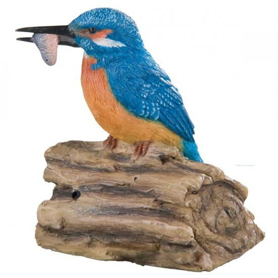 IJsvogel polystone beeldje 12,5 cm