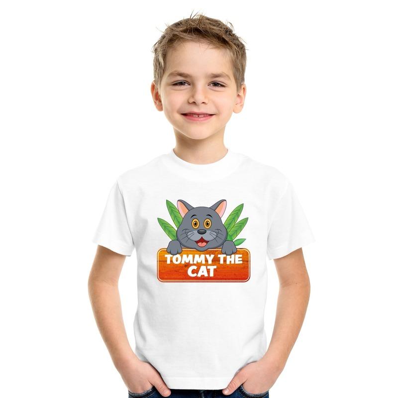 Katten dieren t-shirt wit voor kinderen