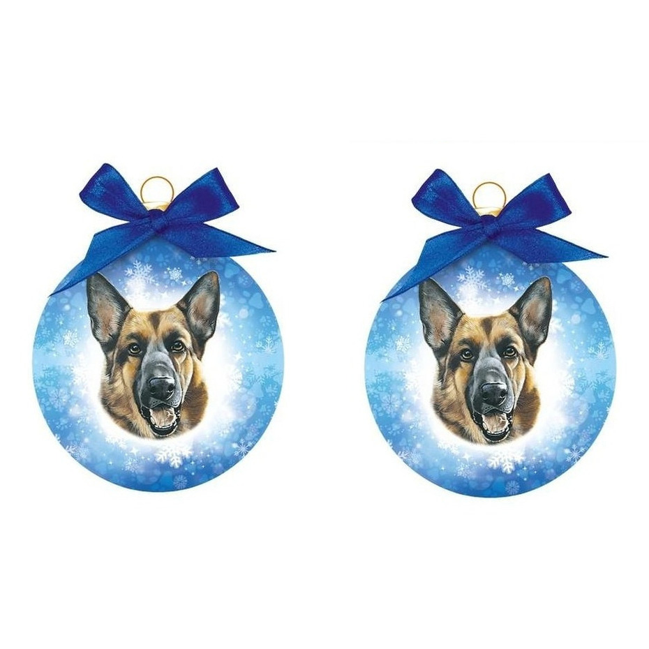 Kerstbal Duitse herder 8 cm