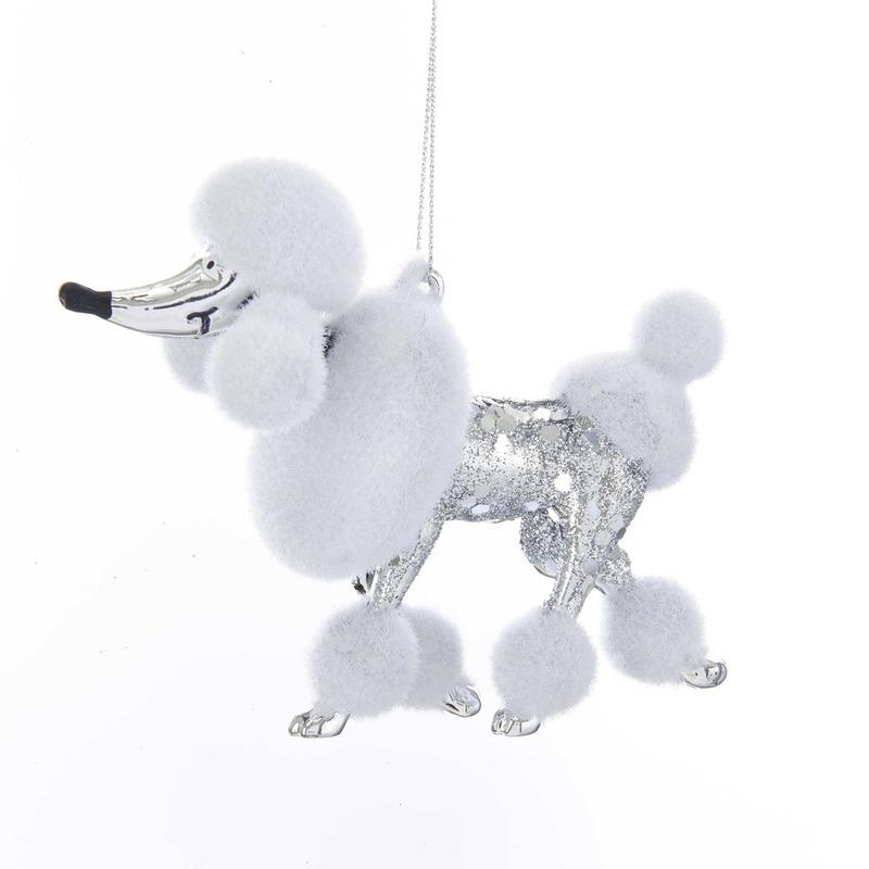 Kerstboomversiering ornamenten Poedel honden 10 cm