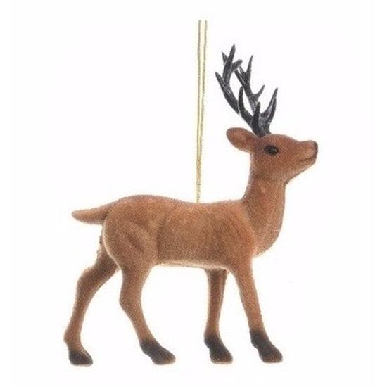 Kerstdecoratie rendier 13 cm type 1