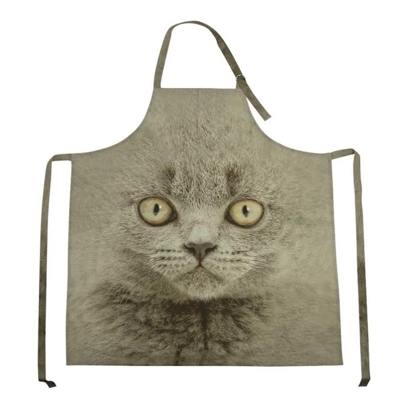 Keukenschort Britse korthaar kat